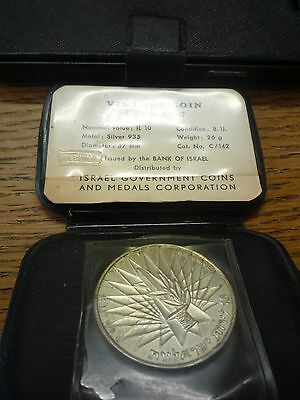 Israel 1967 The Victory Silver Proof Coin Commemorative Collectible Coins
