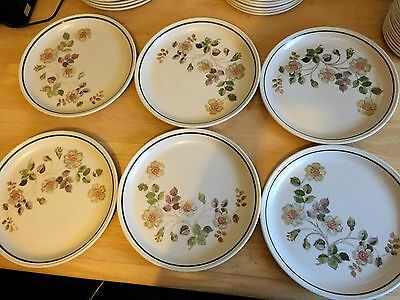 Set Of Six Marks And Spencer Autumn Leaves Dinner Plates