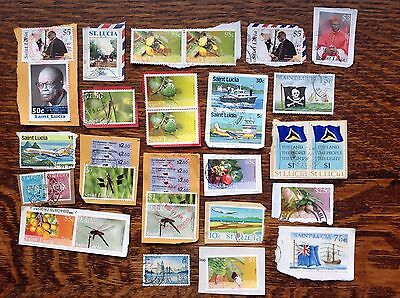 Saint Lucia Stamps Kiloware