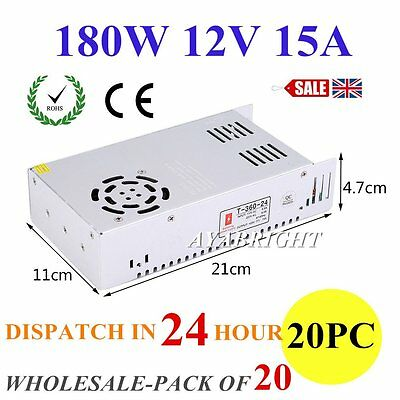 DC 180W 12V 15A Universal Regulated Switching Power Supply for LED Strip CCTV