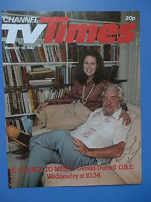 Lee & Gerald Durrell - Author Naturalist Zookeeper - Signed TV Times Front Cover