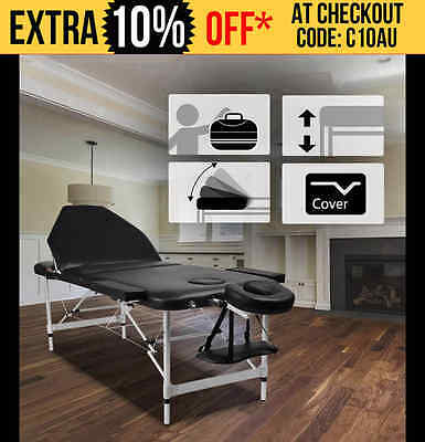 NEW RelaxPro PORTABLE ALUMINIUM MASSAGE TABLE bed 3 fold beauty therapy waxing
