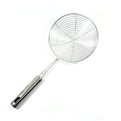 Pot Strainer Ladle kitchen Tools Mesh Stainless Steel Round Skimmer Food Oil New