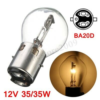 Motorcycle ATV Moped Scooter Head Light Bulb 12V 32/35W Hi Low Beam BA20d Glass
