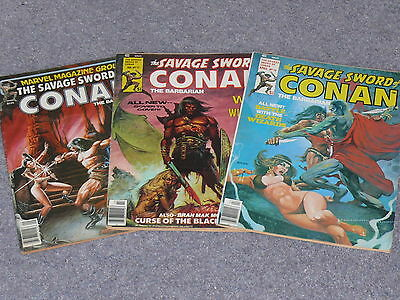 The Savage Sword of Conan ( Lot of 3 Issues ) #17, #18 and #68