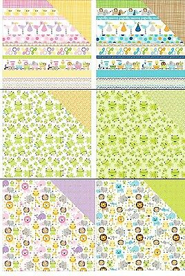 "Bella BLVD Sweet Baby Girl/ Cute Baby Boy Double-Sided Cardstock 12""X12"""