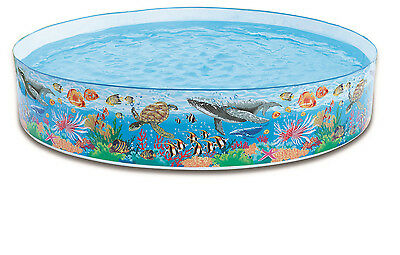 Intex Coral Reef 8ft Snapset Paddling Pool.  We also sell other sizes!