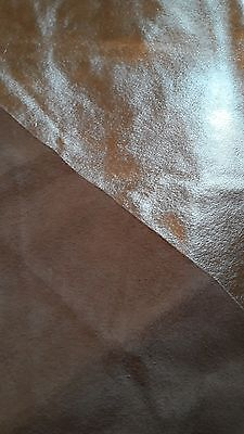 Metalic Leather Skin with Brown Suede Underside 105cm x 83cm