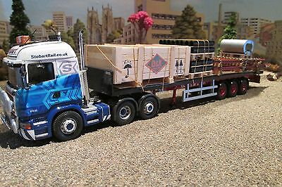 1.50 scale handcrafted model truck load of rail track,export crate. and a cast.