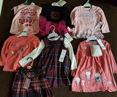 Assorted named Girls bundle of clothes 12 to 18 months NEW WITH TAGS