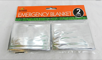 Outdoor Solutions 2 pack of Emergency  Blankets 1m/2m (approx) uk seller