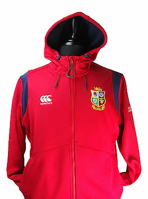 Official British and Irish Lions Canterbury Mens Hoody Red