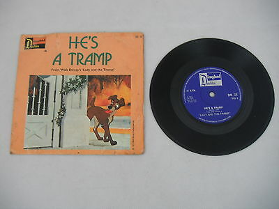 """Lady and the Tramp - Disney 7"""" Vinyl - He's A Tramp - Siamese Cat Song"""