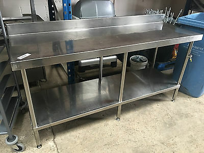 Stainless steel commercial prep table work bench Refv P17101 by Simply Stainlees