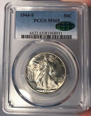 1944-S 50c PCGS MS 65 CAC Walking Liberty Half Dollar