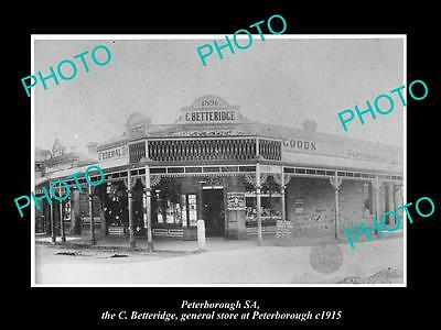 Old Large Historic Photo Of Peterborough South Australia, The General Store 1915