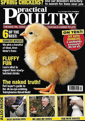 3 x Practical Poultry Magazines - April/May/July 2016 - FREE UK POST