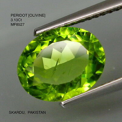 PERIOT [OLIVINE] NATURAL MINED UNTREATED 3.13Ct  MF8527