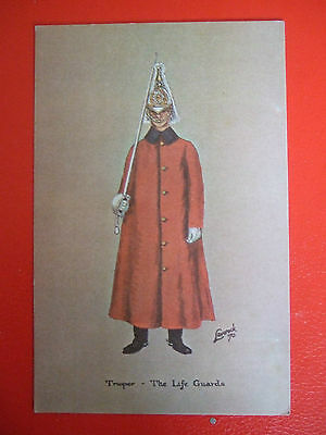 Rare Military Postcard-Trooper-The Life Guards
