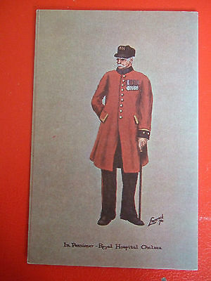 Rare Military Postcard-In Pensioner-Royal Hospital Chelsea