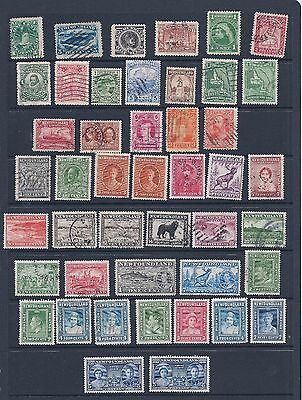 Canada/newfoundland: Qv - Kg6 Mix Mint/used On Stockcard - Nice Clean Material.