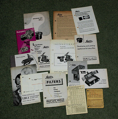 Leica Leaflets and Instruction Books