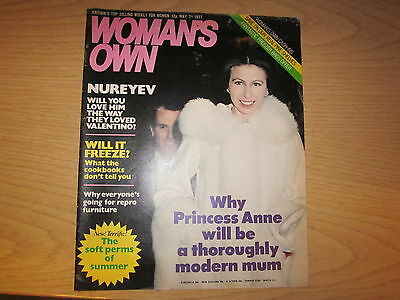 May 7th 1977, WOMAN'S OWN, Rudolph Nureyev, Princess Anne, Rosemary Fenton.