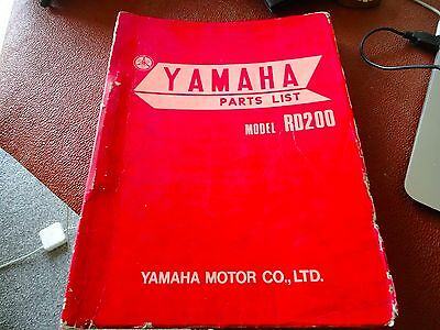 Yamaha Model  RD200 for Europe Parts list.
