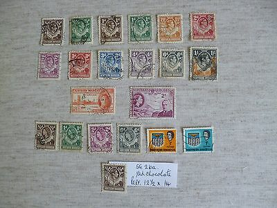 NORTHERN RHODESIA.1938-1963  21 USED STAMPS INCLUDING  SG. 26a -1/2d