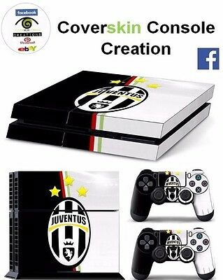 SKIN PS4 JUVENTUS Console COVER PS4 Decal Skin LIMITED EDITION + CONTROLLERS