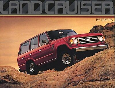 1986 Toyota Land Cruiser Truck SUV Brochure my8186