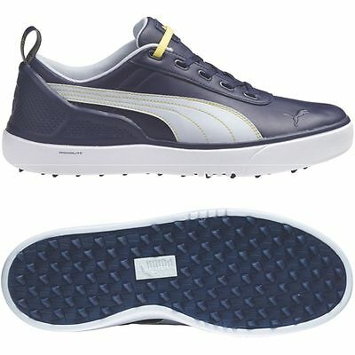 New Puma Golf Mens Monolite Waterproof Spikeless Leather Sport Tour Shoes 7.5