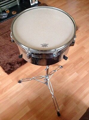 """15"""" Steel Timbale Drum Remo Head Latin Percussion Football Brazil"""