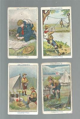 cigarette cards BOY SCOUT SERIES/MAKING A CHAIR ETC gallaher