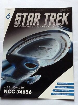 Eagemoss Star Trek The Official Starships Collection No.6  U.S.S. Voyager.