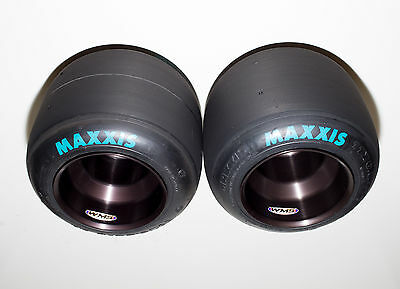 Pair of Used Maxxis HT3 Racing Go Kart Tires & New WMS Aluminum Wheels Drift
