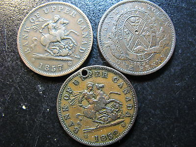 Canada, Eight Different Tokens, Some Holed, Scratched, Damage,  Cheap!