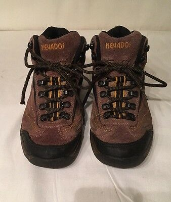 Nevados Boys Brown Hiking Walking Boots Size 4