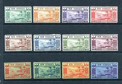 New Hebrides 1938. The Scarce George Vi Set Of 12. Sg 52/63.lightly Mounted Mint