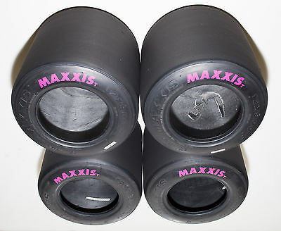 Set of (4) Used Maxxis HT3 Racing Go Kart Tires
