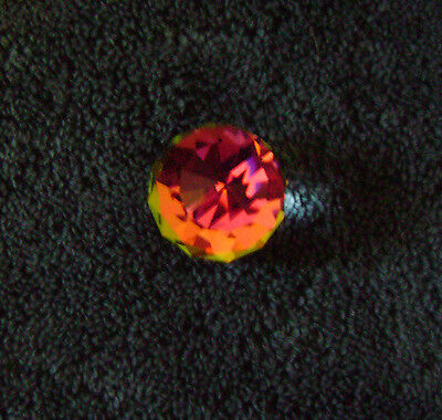 Swarovski Crystal Cal 30 Mm Round Paperweight, Silver Crystal, Rainbow Colors