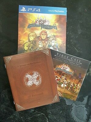 Grand Kingdom Launch Edition PS4 - ART BOOK AND SOUND TRACK CD ONLY