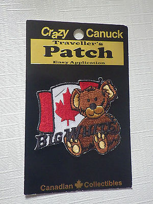 Big White Ski Resort - Travellers Patch Bear Canada Canadian Flag