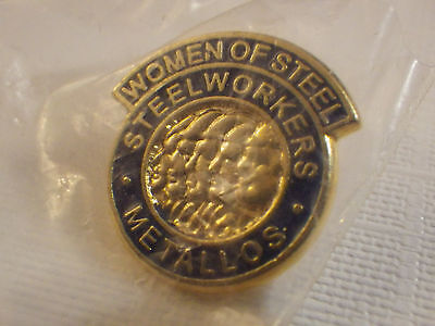 Women of Steel Union very rare pinback Canada Union PIN