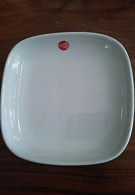 """Vintage Continental Airlines 6"""" Plate Dish Red Logo by THC part EC-9069L"""