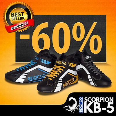 SPARCO SCORPION KB-5 Shoes Black Grey Yellow Blue Moto Sport Car Racing BOOTS