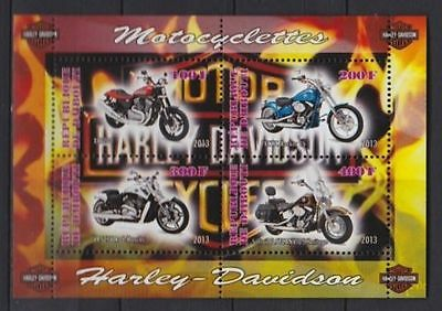 Bloc Sheet Moto Harley Djibouti 2013   Neuf MNH **  Private local/issue