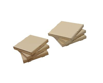 "W PACKAGING WPPB8KP Plain Pizza Box B-Flute 1 5/8"" Deep 8"" Kraft (Pack of 50)"