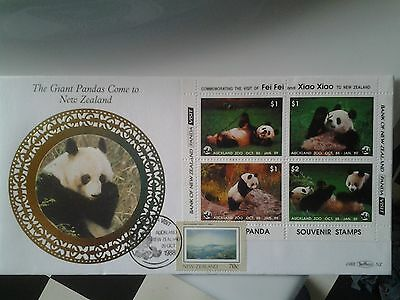fdc giant panda comes to New zealand 1988