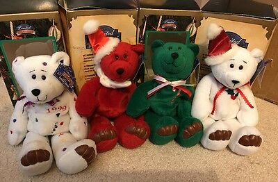 4 LIMITED TREASURES Holiday Edition 98' Bears �� Collectibles
